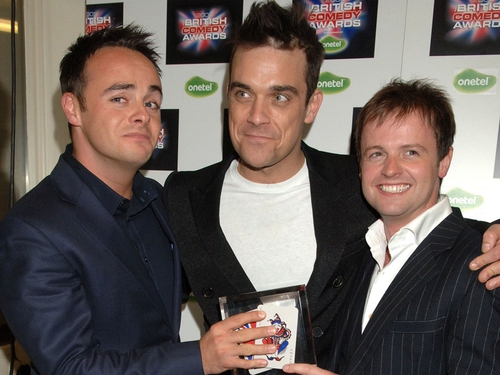 Ant & Dec with Williams - The award is due to be returned