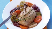 Poulet au Pot with Rice - As rich and decadent as it is simple to make.