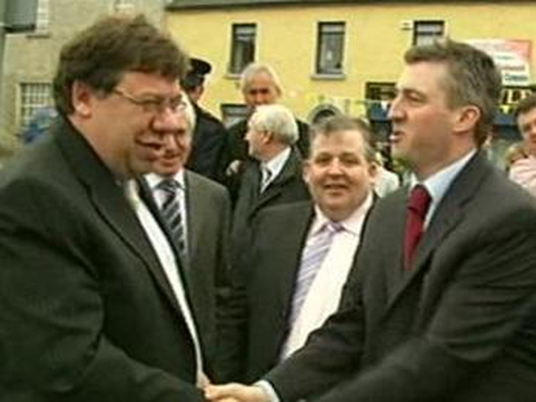 Brian Cowen - Returns to constituency