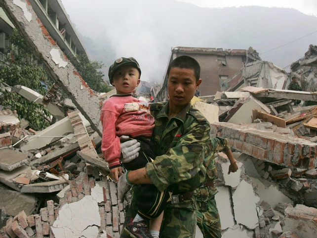 Beichuan - Military aids relief effort