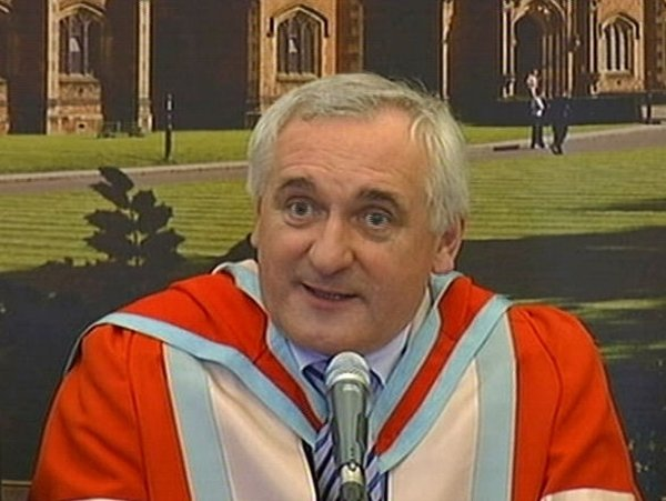 Bertie Ahern - Honoured for peace process role