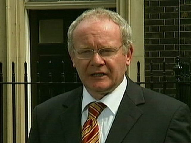 Martin McGuinness - Critical of partitionism