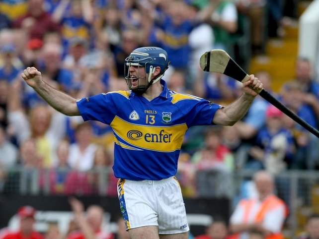 Tipperary goal scorer Eoin Kelly celebrates