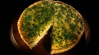 Adrahan and Melted Onion Tart - A must for cheese lovers.