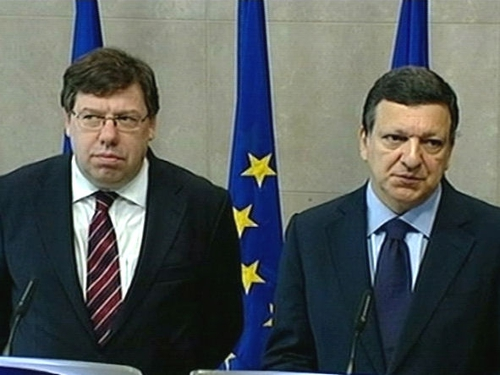 Cowen & Barroso - Agree Ireland has not rejected Europe