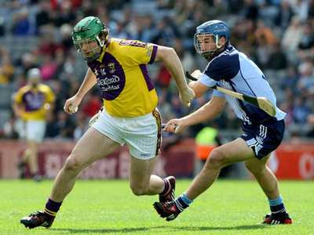Wexford's Stephen Banville and Dublin's Stephen Hiney in action at Croke Park