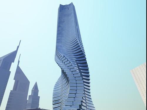 Dubai - Plans for a rotating skyscraper - (Credit Dynamic Architecture)