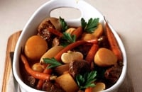 Navarin of Spring lamb - A slow cooking casserole dish with a beautiful sauce and spring vegetable accompaniment.