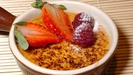 Yoghurt Crème Brulée With Marinated Summer Berries