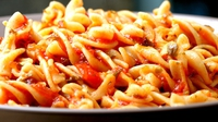 Creamy Tuna and Tomato Pasta - You might break your own speed record in the kitchen.