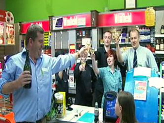 Carlow - Staff of Hickson's supermarket celebrate