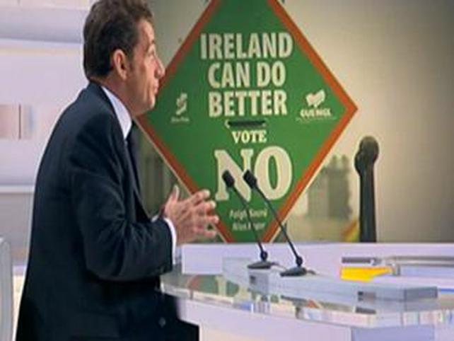 Nicolas Sarkozy - In Dublin for Lisbon talks