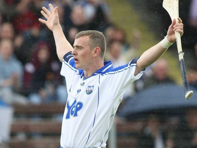 Eoin Kelly celebrates hitting his first major at Walsh Park