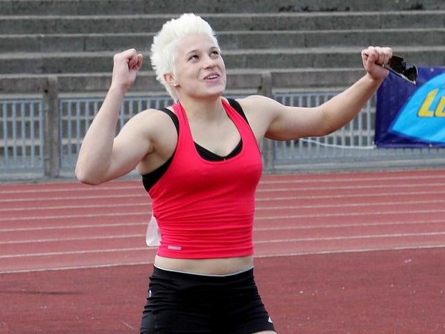 Zoe Brown set a new Irish pole vault record on Sunday
