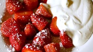 Richard Corrigan's Hot Strawberries