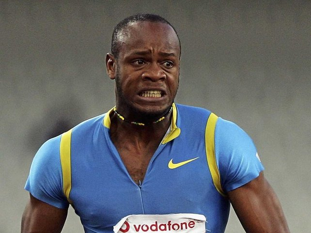 Asafa Powell posted a 9.81 time to win the 100m