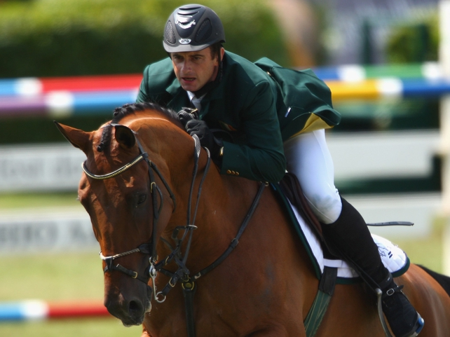 Denis Lynch and his mount Latinus qualified for the final with just six faults from their qualifying rounds