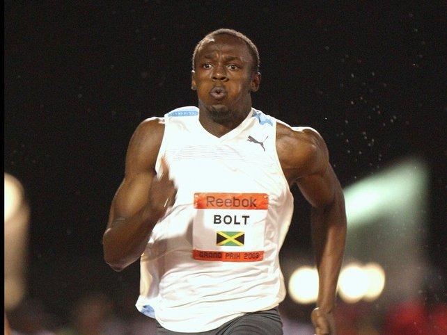 Usain Bolt won the 200m in Shanghai in 19.76s