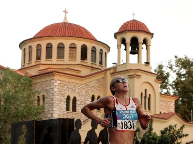World Record holder Paula Radcliffe had to pull out of the marathon in Athens