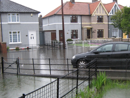 Cabra - Serious street flooding
