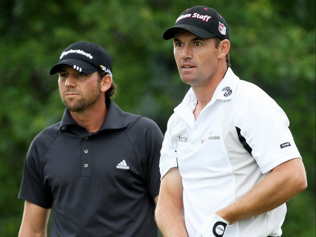 Harrington and Garcia were duelling it out again at Oakland Hills - with the same result
