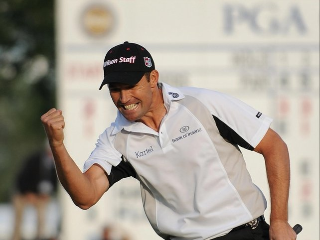 Harrington channels Popeye in his moment of victory