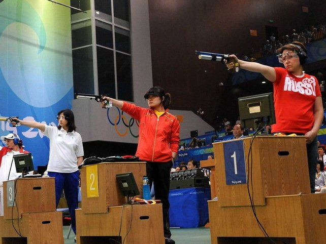 Favourites fall behind in women's pentathlon