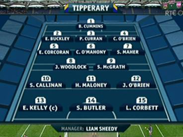 The Tipperary starting XV