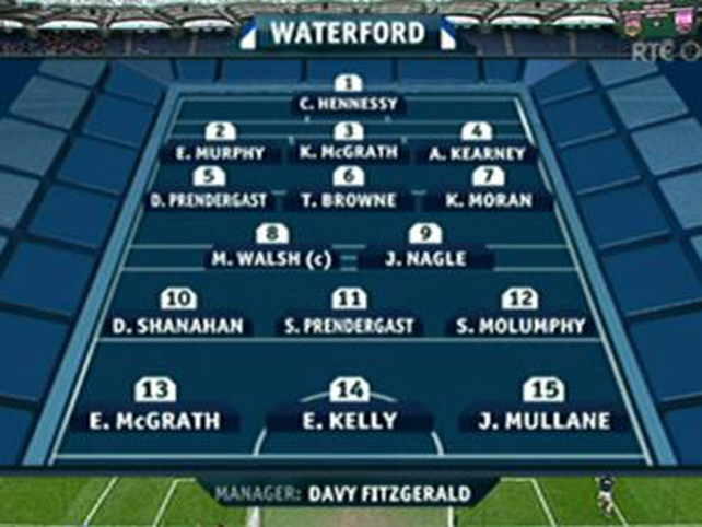 The Waterford starting XV