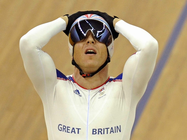 Chris Hoy won his third gold of the Games at the velodrome