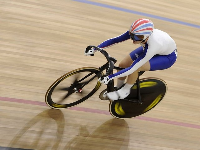 Victoria Pendleton of Britain grabbed her first Olympic gold in the women's sprint