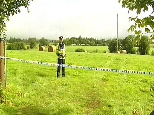 Rylane - Field cordoned off