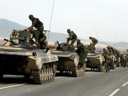 Gori - Russian troops in Georgia last week