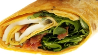 Chicken, Mozzarella, Tomato and Basil Wrap - A healthy wrap that's ideal for lunch.