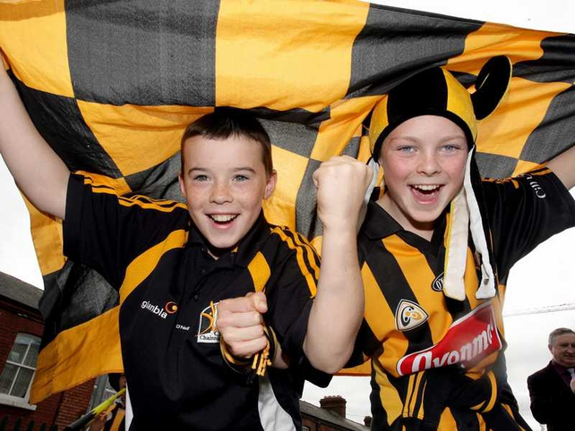 Young Kilkenny fans revel in the pre-match atmosphere