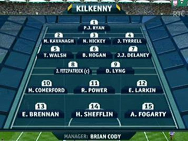 Kilkenny's starting XV