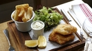 Beer Battered Organic Pollock Fish and Spicy Chips