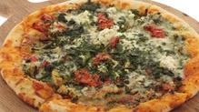 Pork, Basil, Tomato and Mozzarella Pizza