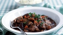 Beef and Guinness Casserole with Creamy Mash