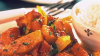 Aubergine and Coconut Curry - Try this flavoursome and healthy vegetarian curry.