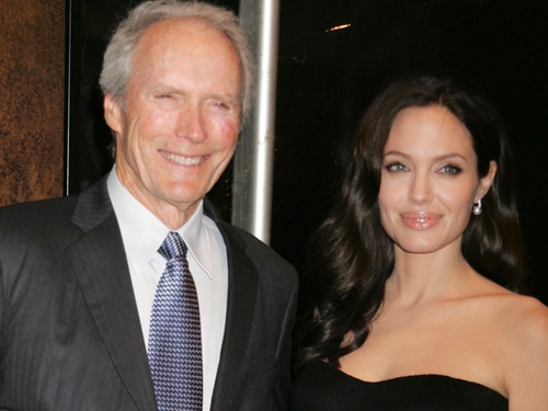 Clint Eastwood and Angelina Jolie at the 'Changeling' premiere in New York