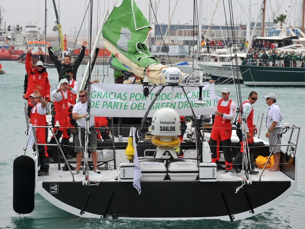 The Green Dragon crew finished third in the first leg of the Volvo Ocean Race