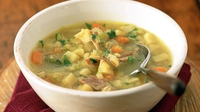 Scotch Broth - This is a sort of Scottish version of Minestrone, actually, again using what is available and just like Minestrone it can be made into more of a meal than a soup.