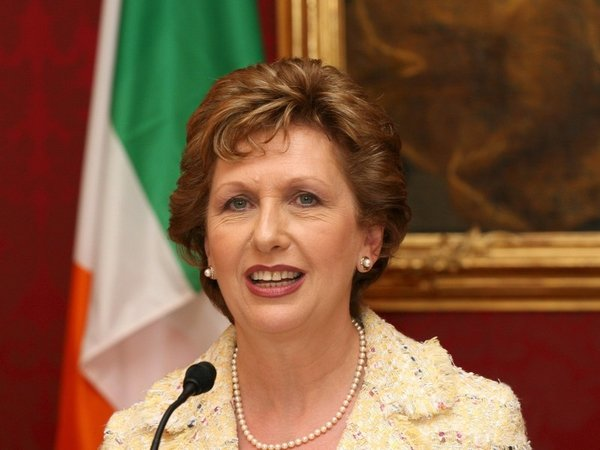 Mary McAleese - Treated in hospital