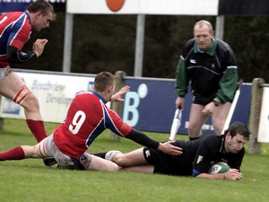 Tommy Seymour scored two tries for Ballumena today