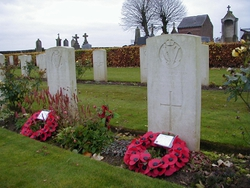 The grave of McCracken Templeton one of the Irish soldiers shot at dawn by the British army.
