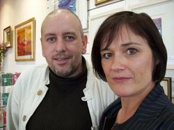 Peadar McDaid and Mary Harte who run the Create a Link centre