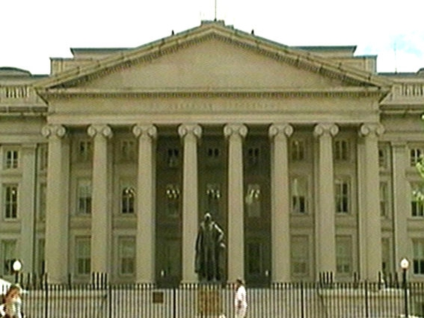 US Treasury Department - Deficit likely to treble