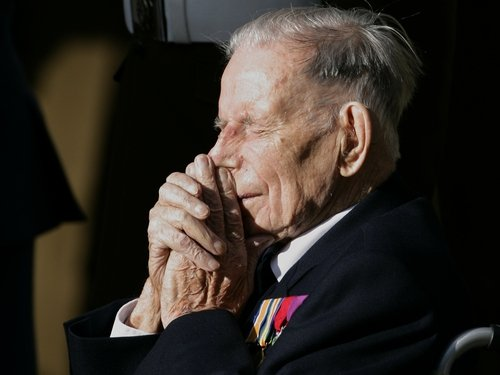 Harry Patch - 110-year-old veteran at London ceremony