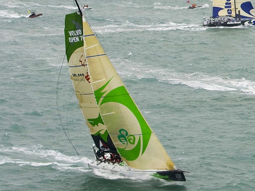Green Dragon is struggling on the second leg of the Volvo Ocean Race